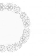 250 szt. ∅ 42 cm SERWETKI PORCELANOWE COLLINO okrągłe powlekane serwetki z koronką
