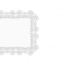 250 szt. 32 x 38 cm SERWETKI PORCELANOWE COLLINO prostokątne powlekane serwetki z koronką