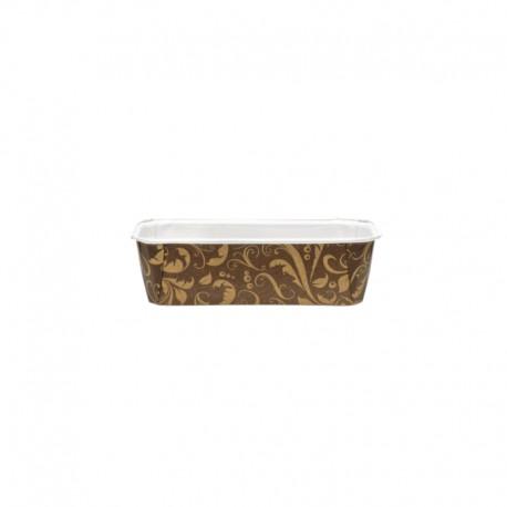 FORMA BL PLUM 130 BRĄZOWA NOVACART 155 x 60 x h 55 mm papierowa forma ze złotym wzorem