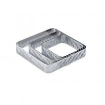 105 x 105 x h 20 mm XF02 RANT PERFOROWANY PAVONI kwadratowy rant ze stali nierdzewnej