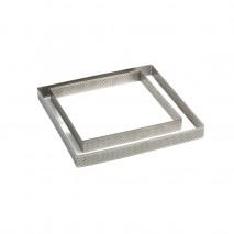 150 x 150 x h 20 mm XF151520 RANT PERFOROWANY PAVONI kwadratowy rant ze stali nierdzewnej