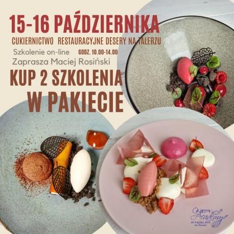 15.10 Cukiernicto Restauracyjne - DESERY NA TALERZU 2 przepisy   10 receptur   z Maciejem Rosińskim