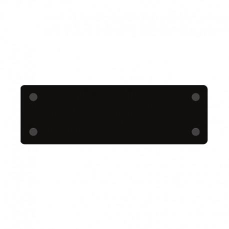 13 x 45 cm PODKŁADKA PROSTOKĄTNA CZARNA Z PLEXI SWEET DECOR do serwowania wysokość ok. 3 mm