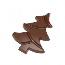 12008CW FORMA CHOINKA CHOCOLATE WORLD forma z poliwęglanu do tabliczek czekolady w kształcie choinki
