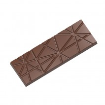 2450CW FORMA W PASKI CHOCOLATE WORLD forma z poliwęglanu do tabliczek czekolady z wzorem w paski