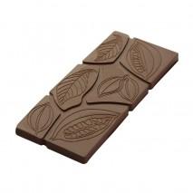 CF0810 FORMA ZIARNA KAKAOWCA CHOCOLATE WORLD forma z poliwęglanu do tabliczek czekolady z wzorami ziarna kakaowca