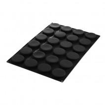SQ077 DISCO 40.477.20.0000 SILIKOMART duża forma silikonowa na 24 dyski ∅ 75 mm