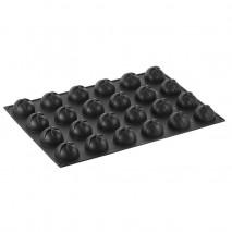 PX033 VERTIGO PAVONI duża forma silikonowa na 24 porcje w kształcie dekoracyjnych półkul ∅ 70 x h 44 mm