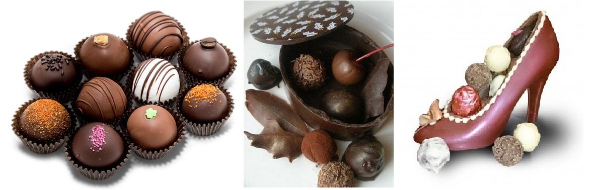 Ręcznie robione trufle czekoladowe