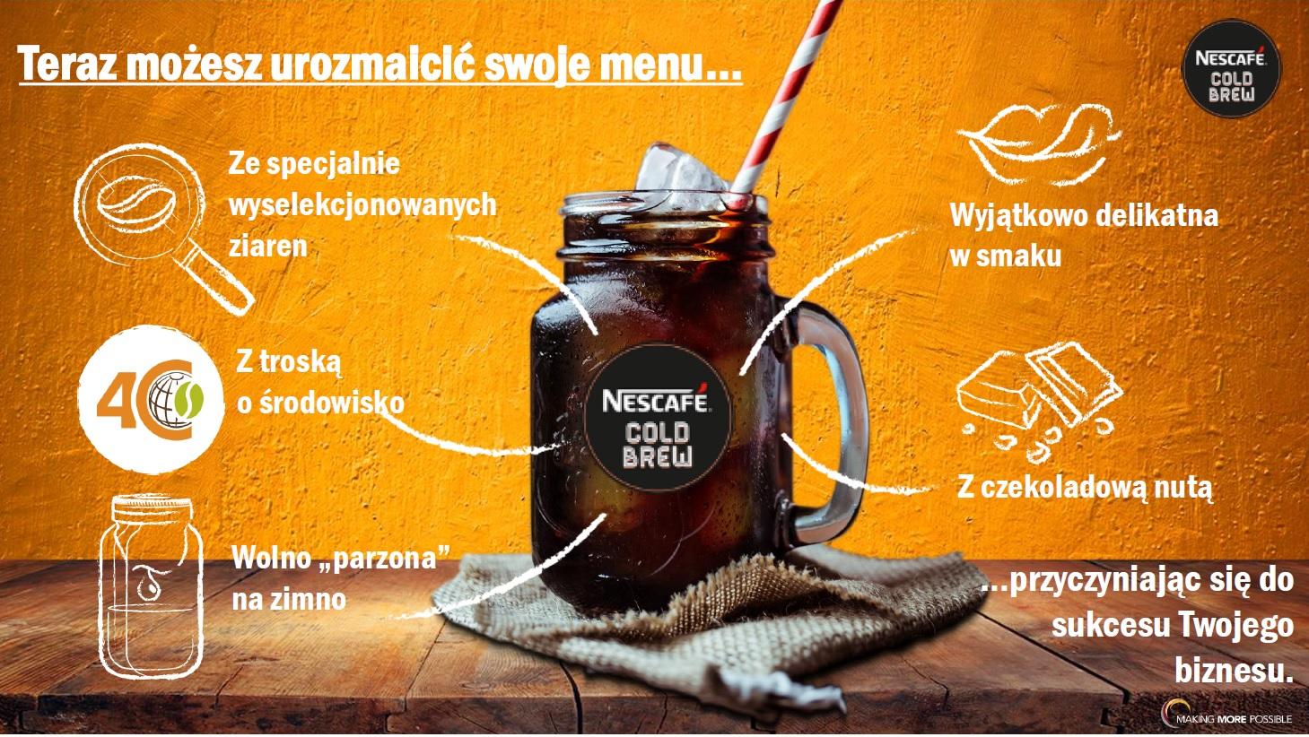 Kawa macerowana na zimno Cold BREW Nescafe