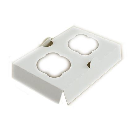 wkładka do pudełka na 2 muffinki